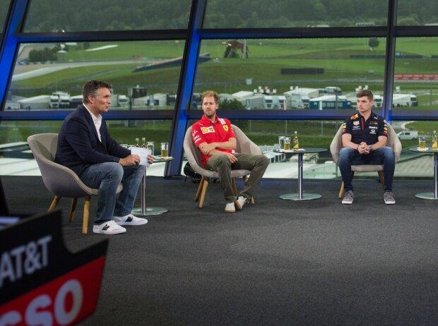 Sebastian Vettel, Pierre Gasly, Max Verstappen, Christian Horner