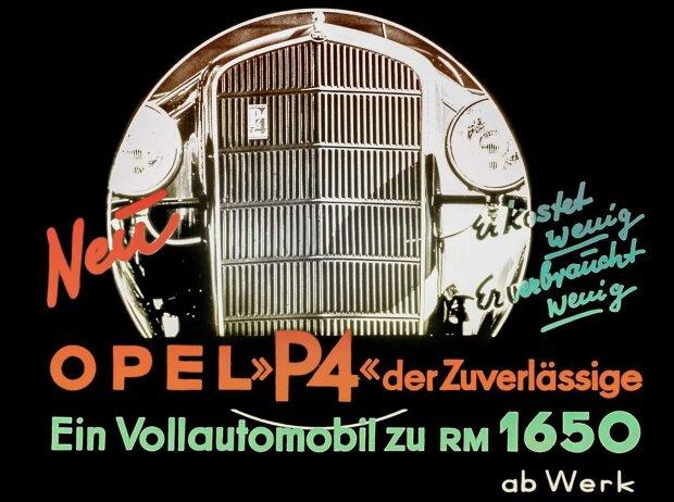 Opel P4, Werbeplakat
