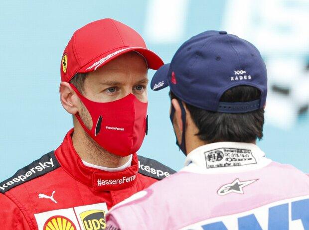 Sebastian Vettel, Sergio Perez