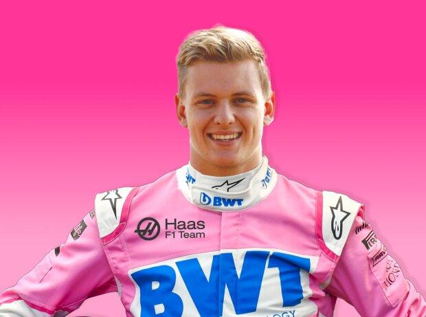 Mick Schumacher in BWT-Farben (Fotomontage)