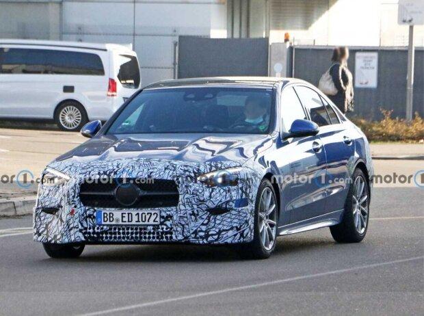 Mercedes C-Klasse Limousine (2021) neue Erlkönigbilder