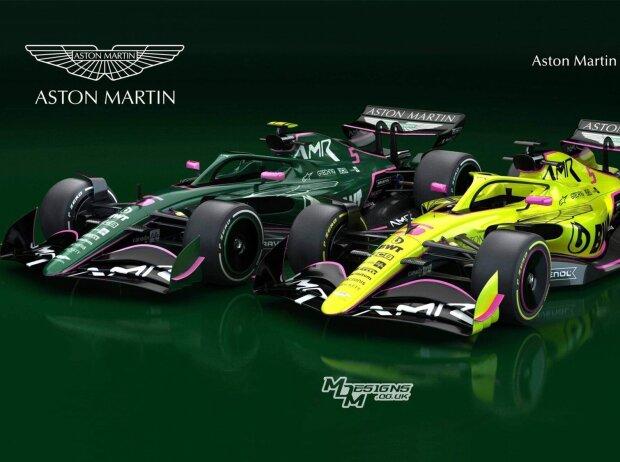 Aston Martin: Designstudie für die Formel 1 in British Racing Green