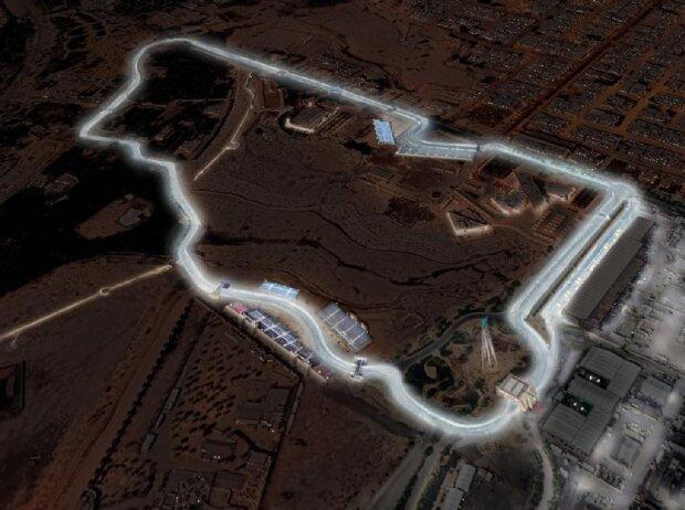 Stadtkurs in Riad mit Flutlicht