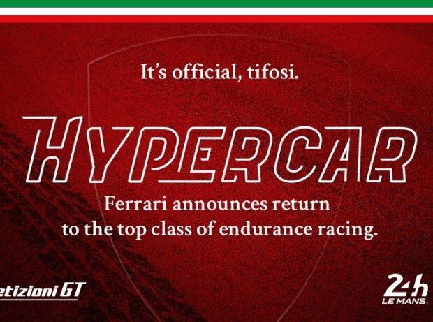 Ferrari, Le-Mans-Hypercar