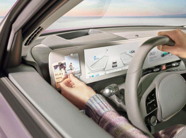 Cockpit-Detail des Hyundai IONIQ 5