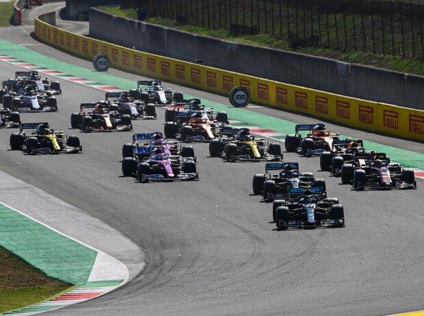Lewis Hamilton, Valtteri Bottas, Charles Leclerc, Alexander Albon