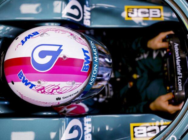 Sebastian Vettels BWT-Helm
