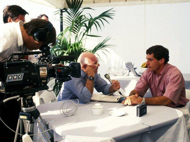 Ayrton Senna, Murray Walker