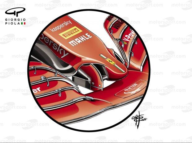 Ferrari SF21, Nase