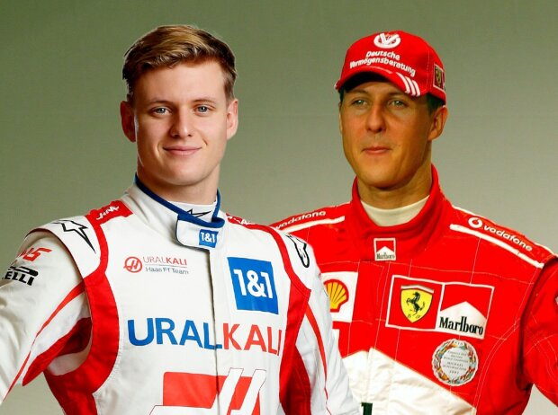 Mick und Michael Schumacher (Fotomontage)
