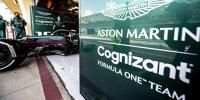 Sebastian Vettel in der Box von Aston Martin