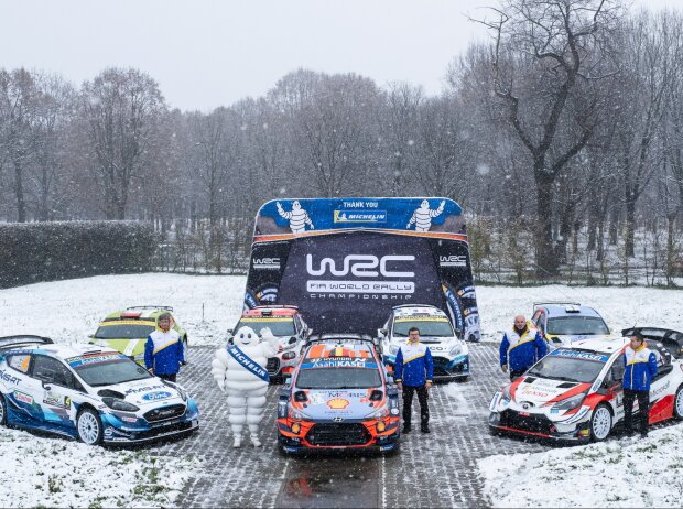 Nicolas Gilsoul, Thierry Neuville, Gruppenfoto, Hyundai, M-Sport, Ford, Toyota