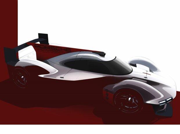 Porsche-LMDh-Projekt, Porsche LMDh, Rendering