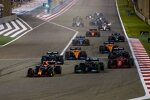 Max Verstappen (Red Bull), Lewis Hamilton (Mercedes), Charles Leclerc (Ferrari), Valtteri Bottas (Mercedes) und Lando Norris (McLaren)