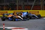 Daniel Ricciardo (McLaren) und Fernando Alonso (Alpine)