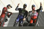 Francesco Bagnaia (Ducati), Maverick Vinales (Yamaha) und Johann Zarco (Pramac)
