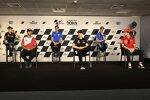 Fabio Quartararo (Yamaha), Johann Zarco (Pramac), Joan Mir (Suzuki), Maverick Vinales (Yamaha), Alex Rins (Suzuki) und Francesco Bagnaia (Ducati)