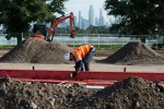 Umbauarbeiten im Albert Park in Melbourne