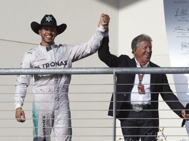 Lewis Hamilton und Mario Andretti