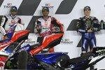 Jorge Martin (Pramac), Johann Zarco (Pramac) und Maverick Vinales (Yamaha)