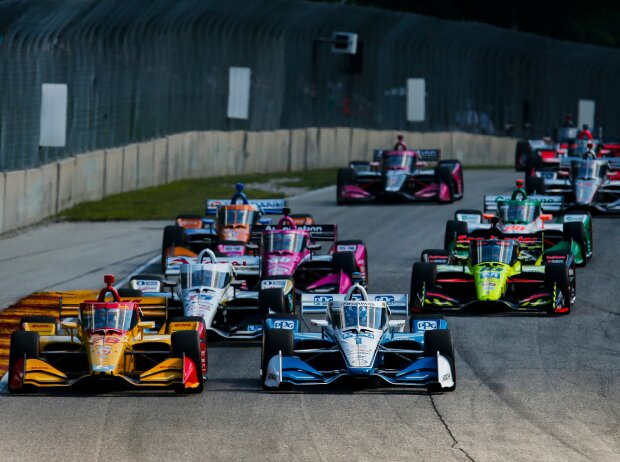 IndyCar-Action in Elkhart Lake 2020