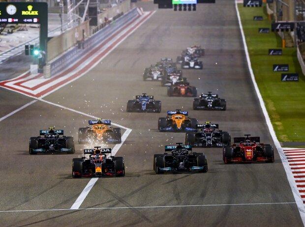Max Verstappen, Lewis Hamilton, Charles Leclerc, Valtteri Bottas, Lando Norris