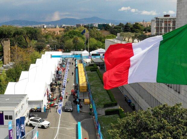 Formel-E-Fahrerlager in Rom