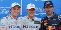 Michael Schumacher, Mark Webber, Nico Rosberg
