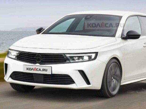 Opel Astra L (2021) im inoffiziellen Rendering von Kolesa