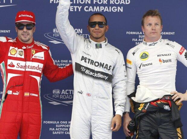 Lewis Hamilton, Fernando Alonso, Kimi Räikkönen