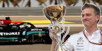 Lewis Hamilton und James Allison (Fotomontage)