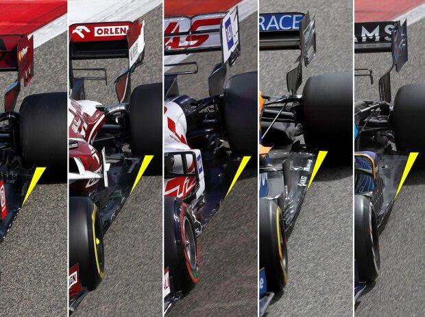 Ferrari, Alfa Romeo, Haas, McLaren, Williams, Unterboden