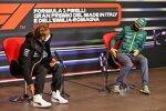 Lewis Hamilton (Mercedes) und Sebastian Vettel (Aston Martin)