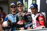 Fabio Quartararo (Yamaha), Alex Rins (Suzuki) und Johann Zarco (Pramac)
