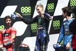 Francesco Bagnaia (Ducati), Fabio Quartararo (Yamaha) und Joan Mir (Suzuki)