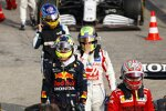 Charles Leclerc (Ferrari), Sergio Perez (Red Bull), Mick Schumacher (Haas) und Fernando Alonso (Alpine)