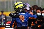 Lando Norris (McLaren) und Lewis Hamilton (Mercedes)