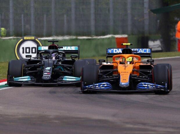 Lando Norris, Lewis Hamilton