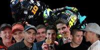 Collage: Familien im Motorradrennsport
