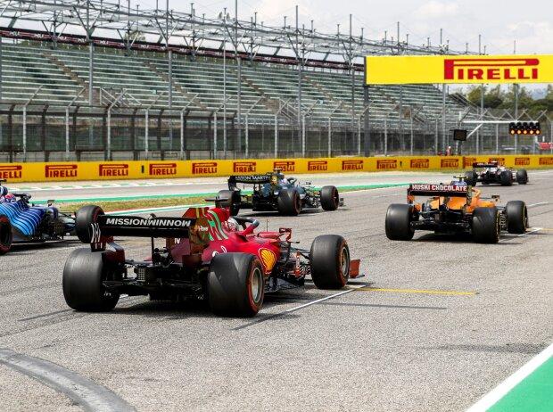 Kimi Räikkönen, Sebastian Vettel, Lando Norris, Charles Leclerc, Fernando Alonso