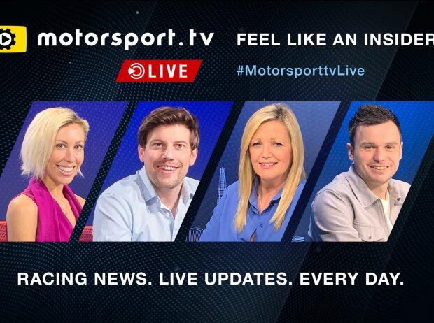 Moderatorenteam Motorsport.tv Live
