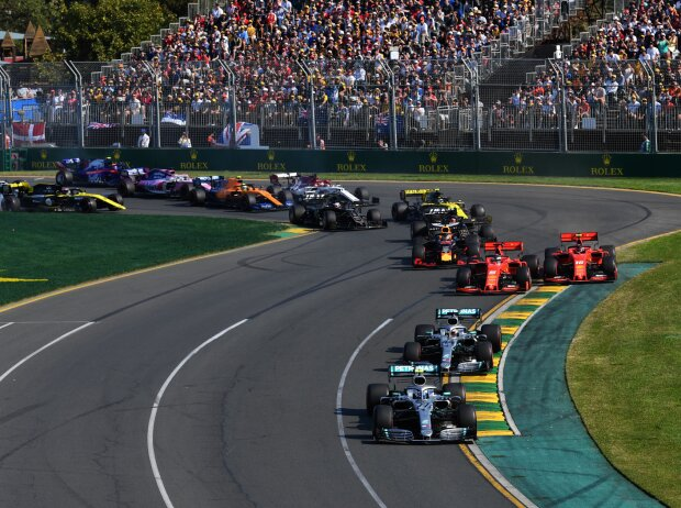 Valtteri Bottas, Lewis Hamilton, Sebastian Vettel, Charles Leclerc, Max Verstappen