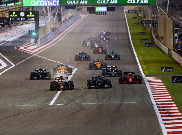 Formel 1 Bahrain 2021 Rennstart