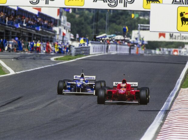 Jacques Villeneuve Michael Schumacher Estoril 1996 Portugal