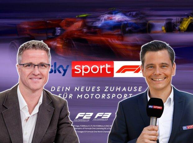 Sky-F1-Experte Ralf Schumacher, Sky-F1-Kommentator Sascha Roos