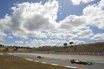 Mick Schumacher (Haas), Charles Leclerc (Ferrari) und Sebastian Vettel (Aston Martin)