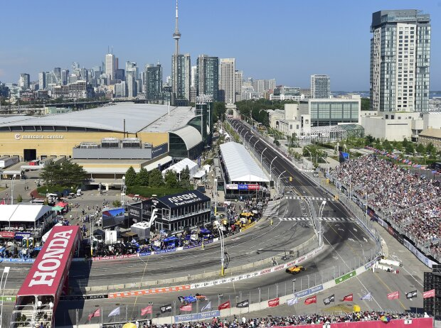 IndyCar-Action auf dem Exhibition Place in Toronto