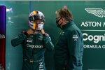 Sebastian Vettel (Aston Martin) und Otmar Szafnauer