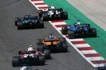 Pierre Gasly (AlphaTauri), Sebastian Vettel (Aston Martin), George Russell (Williams), Daniel Ricciardo (McLaren) und Antonio Giovinazzi (Alfa Romeo)