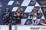 Remy Gardner (KTM Ajo), Marco Bezzecchi (VR46) und Fabio Di Giannantonio (Gresini)